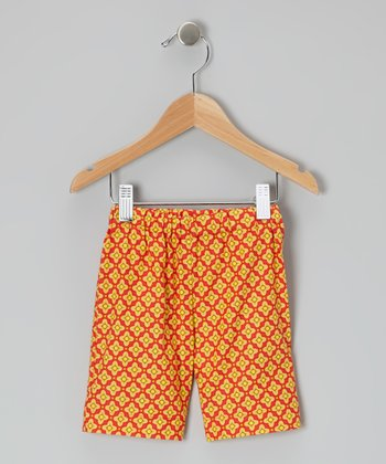 Gold Décor Cropped Pants - Infant, Toddler & Girls
