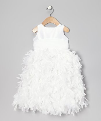 White Feather Dress - Infant
