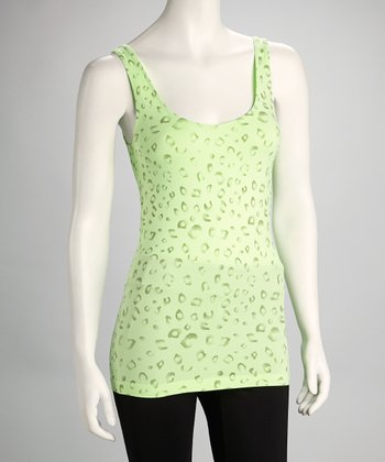 Green Apple Leopard Tank