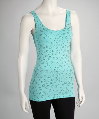 Tiffany Blue Leopard Tank