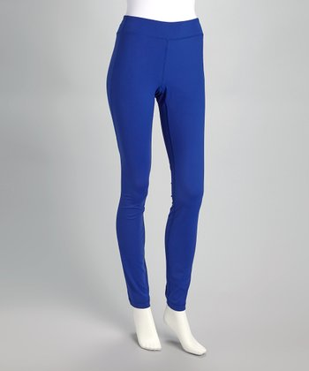 Royal Blue Curved Seam Leggings