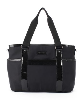 Black Lauren Tote Diaper Bag