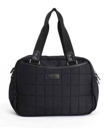 Black Leslie Tote Diaper Bag