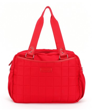 Red Leslie Tote Diaper Bag