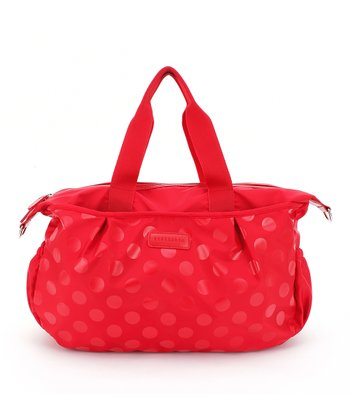 Red Olivia Tote Diaper Bag