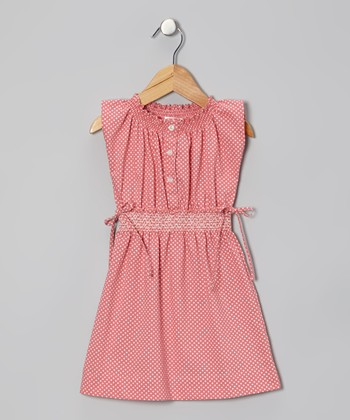 Pink Polka Dot Olivia Dress - Infant & Toddler