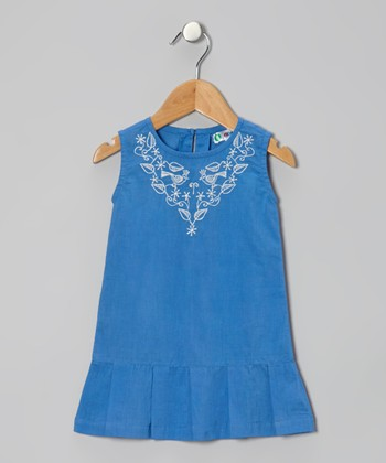 Blue Ella Drop-Waist Dress - Infant & Toddler