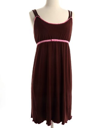 Chocolate & Hot Pink Emily Nursing Dress