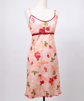 Peach Floral Lace Emily Nursing Dress