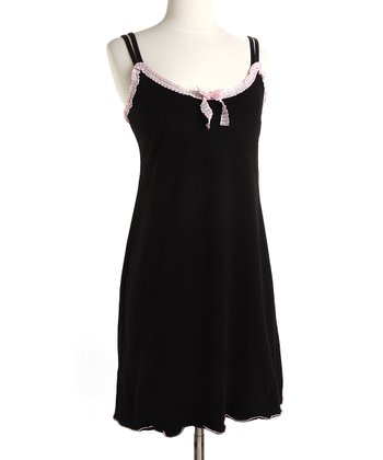 Black Licorice & Pink Madison Nursing Dress