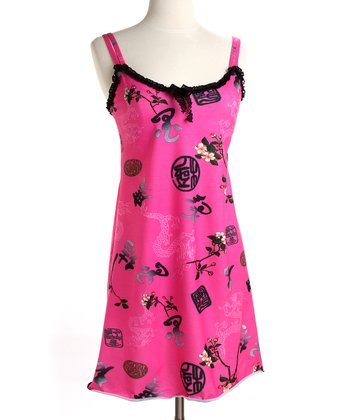 Pink Asian Flowers Madison Nursing Dress
