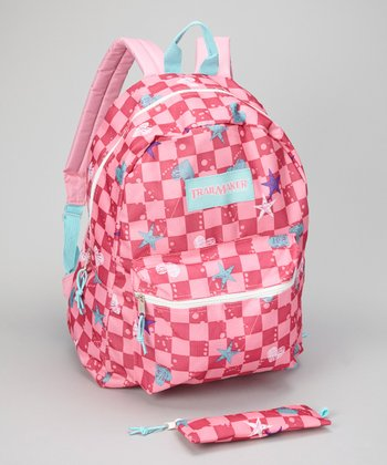 Pink Plaid Backpack
