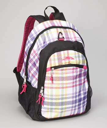 Rainbow Plaid Backpack
