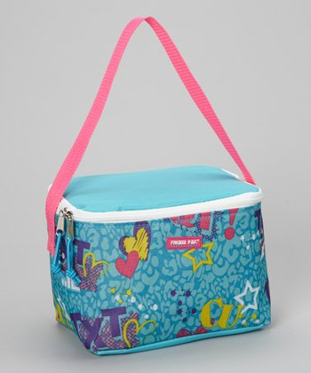Turquoise Word Lunch Bag