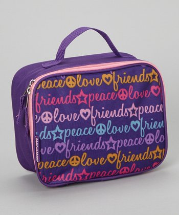Purple Word Lunch Bag