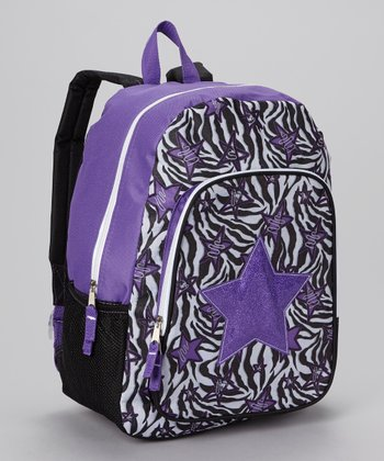 Purple Glitter Star Backpack