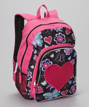 Sequin Heart Backpack
