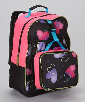 Hearts Backpack & Lunch Bag
