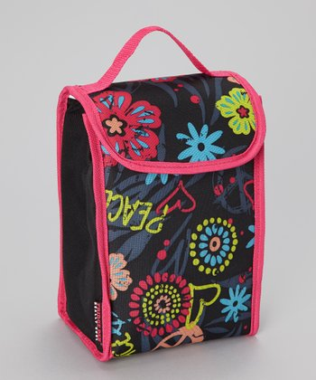 Floral Roll-Down Lunch Bag