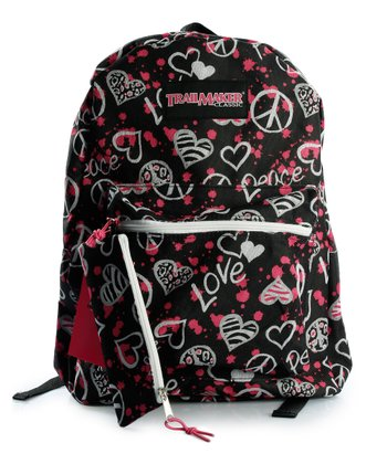 Black Peace & Love Backpack