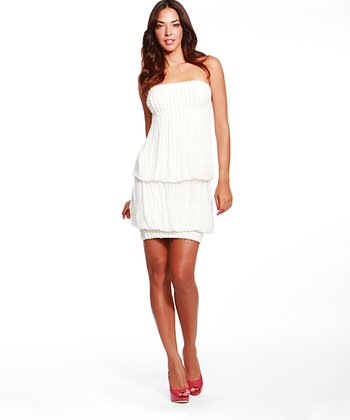 Miracle Ivory Addison Strapless Bubble Dress - Women