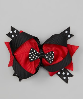 Black & Red Polka Dot Clip