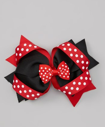 Red & Black Polka Dot Clip