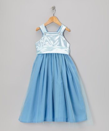 Blue Princess A-Line Dress - Toddler & Girls