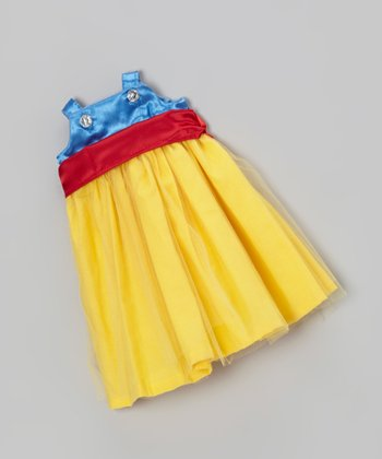 Blue & Yellow Doll Dress