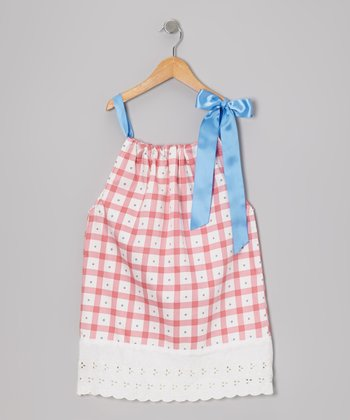 Mauve Plaid Swing Dress - Toddler & Girls