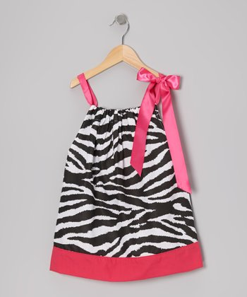 Pink Zebra Swing Dress - Toddler & Girls