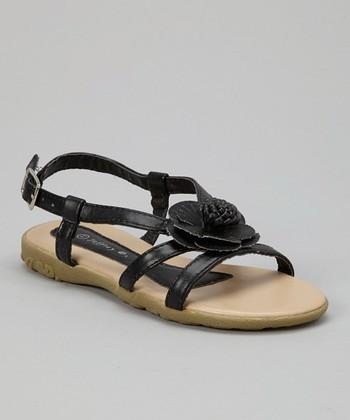 Black Blossom Sandal