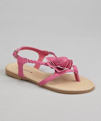 Fuchsia Blossom Braid Sandal