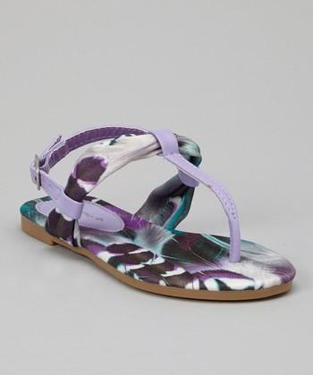Purple Feather Sandal