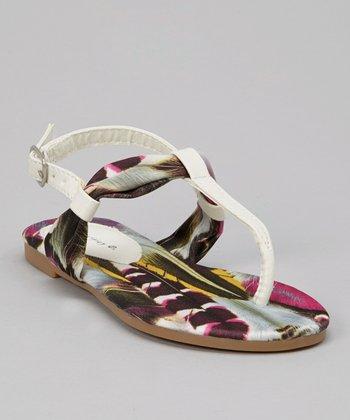 White Feather Sandal