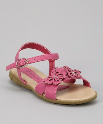 Fuchsia Butterfly Sandal