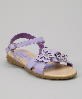 Purple Butterfly Sandal