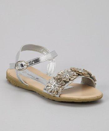Silver Daisy Sandal