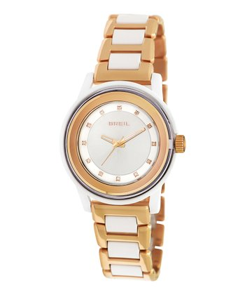 White & Rose Gold Orchestra Watch - Women