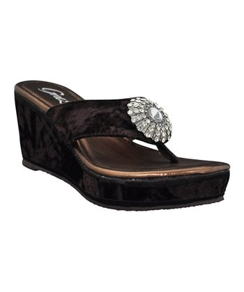 Brown Jozlynn Wedge Sandal