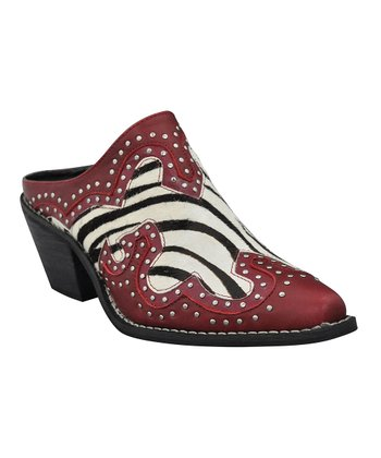 Red & Black Zebra Pony Hair Maverick Mule