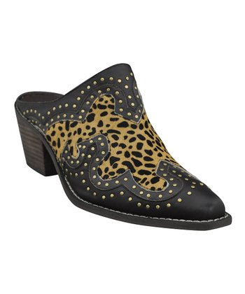 Tan & Leopard Maverick Bootie - Women