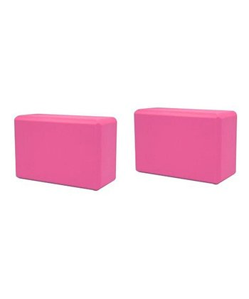 Pink Yoga Block - Set of Two