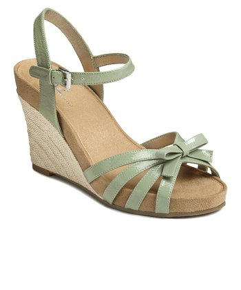 Light Green Patent Ivyplush Wedge Sandal