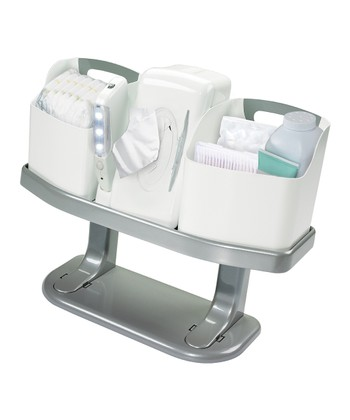 White Always Ready Changing Pad & Station