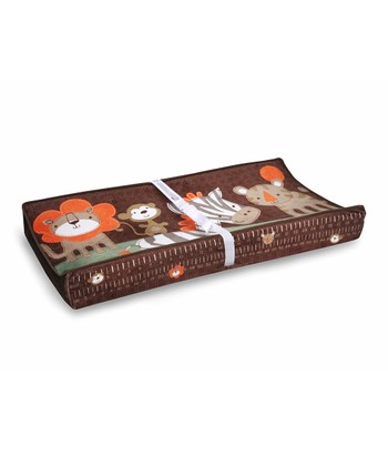 Brown & Orange Jungle Friends Changing Pad Cover