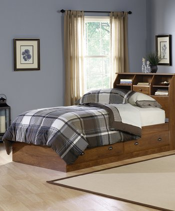 Oiled Oak Shoal Creek Four-Piece Twin Bedroom Set