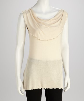 Ecru Cowl Neck	Top