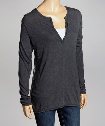 Gray JJ Long-Sleeve Top