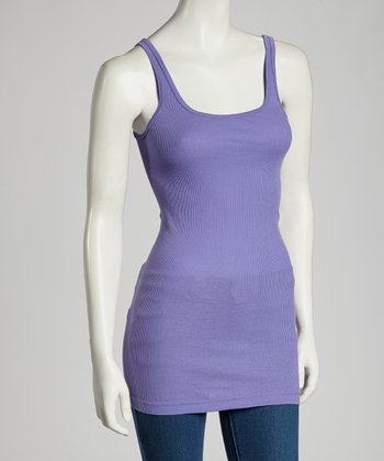 Grape Kristie Organic Ribbed Tank - Women